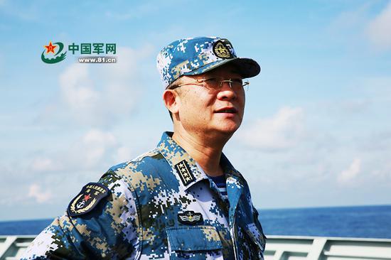 28年后,杨志亮率护航编队航经南海(图片来源:中国军网)