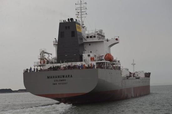 """▲世界最大水泥运输船""""康提号""""出海"""