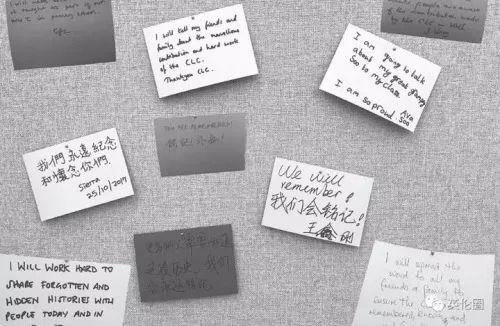 留言来自于伦敦唐人街China Exchange中国劳工影像展现场。(来源:《欧洲时报》)
