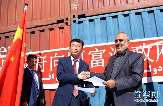 ▲资料图片:中国向阿富汗提供紧急粮食援助。