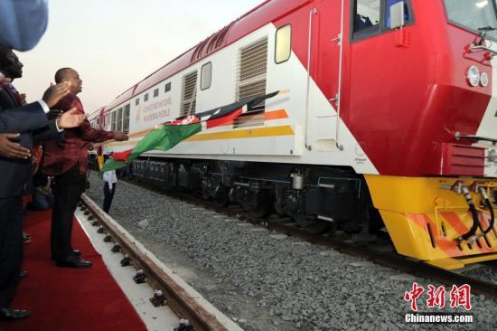 蒙内铁路移交仪式。 中新社记者 宋方灿 摄