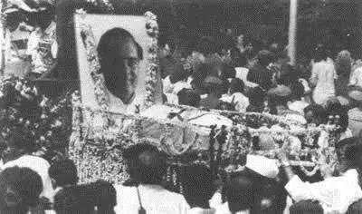 ▲拉吉夫·甘地的葬礼