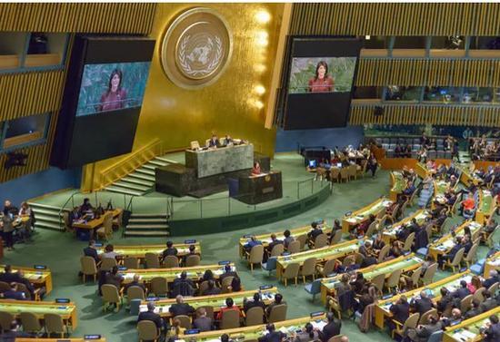 ▲纽约的联合国大会。图据《卫报》