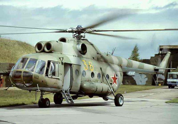 图为俄军装备的米-8直升机