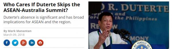 《外交学者》杂志网站报道截图