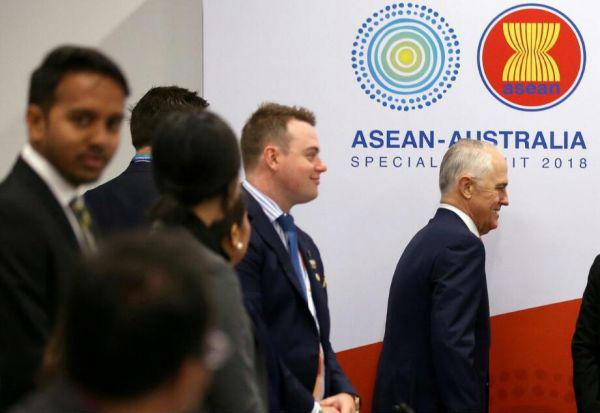 3月16日,特恩布尔出席东盟—澳大利亚特别峰会领导人圆桌会议。(路透社)