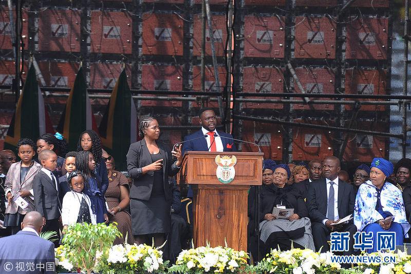 """南非为""""国母""""温妮·曼德拉举行官方追悼仪式"""