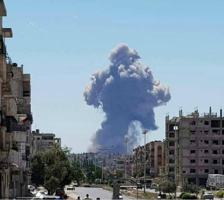 叙利亚中部城市发生巨大爆炸。(图片来源:海外网)