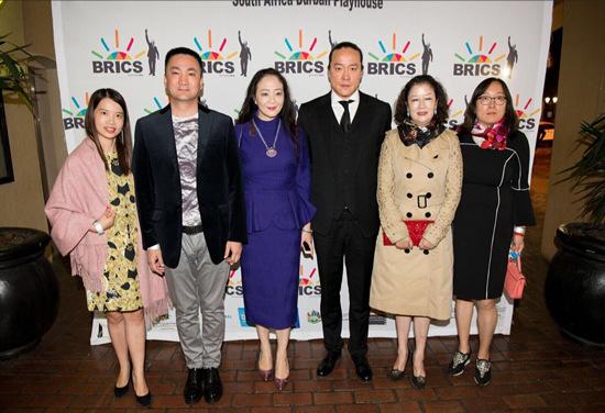 中国-南非合拍电影《蓝花楹》中方代表合影