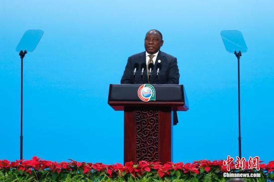 资料图:南非总统拉马福萨。<a target='_blank' href='http://www.chinanews.com/' _fcksavedurl='http://www.chinanews.com/'>中新社</a>记者 富田 摄