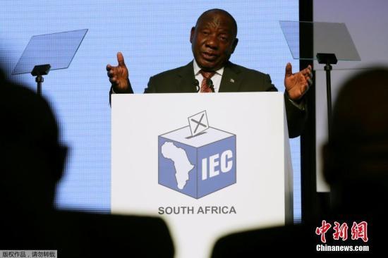 资料图:南非总统拉马福萨。