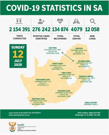 南非covid-19 疫情加重 每小时500例飙升