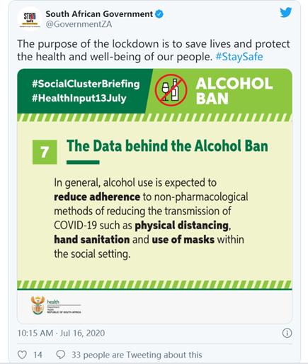 遭遇酒农挑战!南非政府将定期重新评估禁酒令