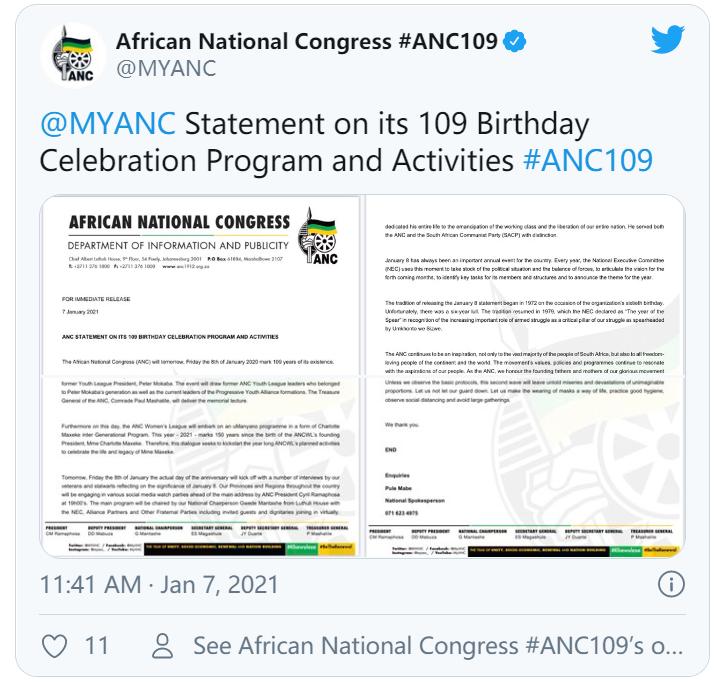 内忧外患!南非总统预计将在1月8日的声明中谈到与非国大的派系斗争