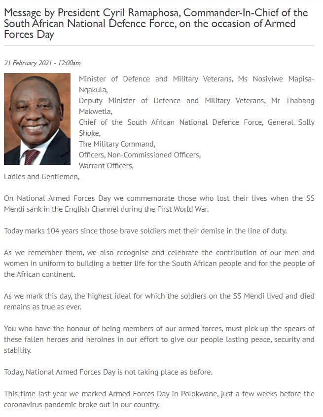 △图片来自南非总统府网站