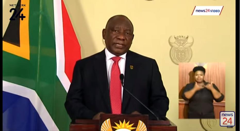 南非总统发表关于封锁最新调整的讲话