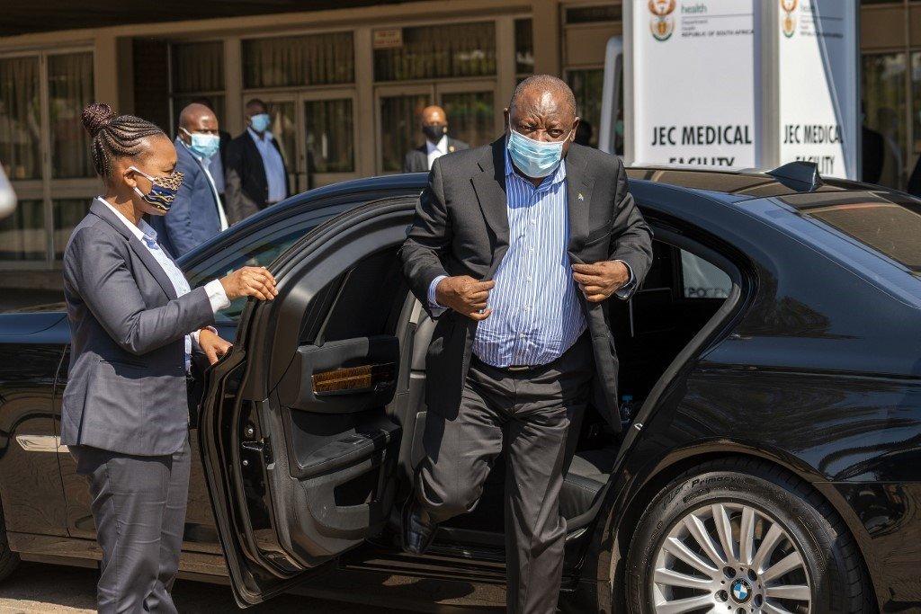 President Cyril Ramaphosa. (Jerome Delay/AFP)