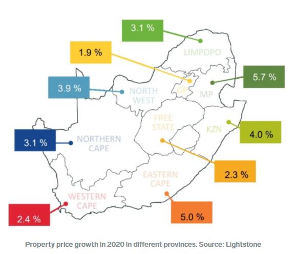 南非2020年的房价出人意料——这些房产表现最好