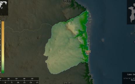 FILE: A map showing Cabo Delgado, province of Mozambique. Picture: 123rf.com