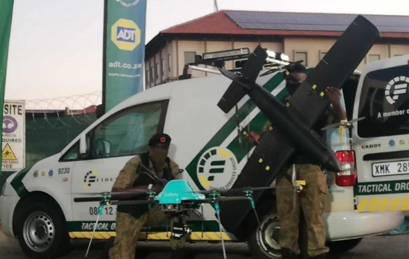 保安公司现在使用无人机在南非郊区追踪罪犯